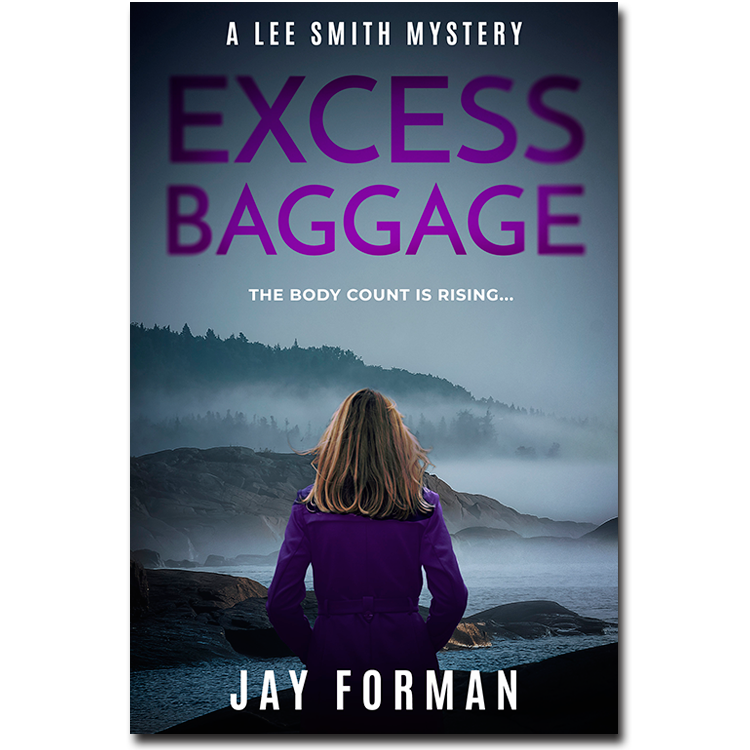 "Cover image for ""Excess Baggage""- From the Lee Smith Mystery series by Jay Forman."