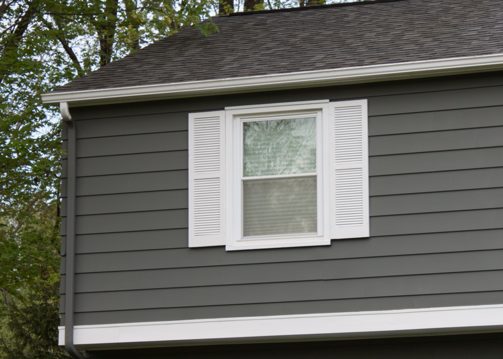 After siding refinishing
