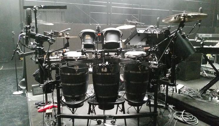 Aaron Draper's Adele Percussion Setup