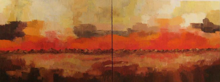 Landscape #33<br>30x80 (diptych)