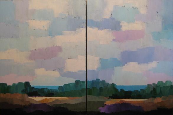 Landscape #53<br>40x60 (diptych)