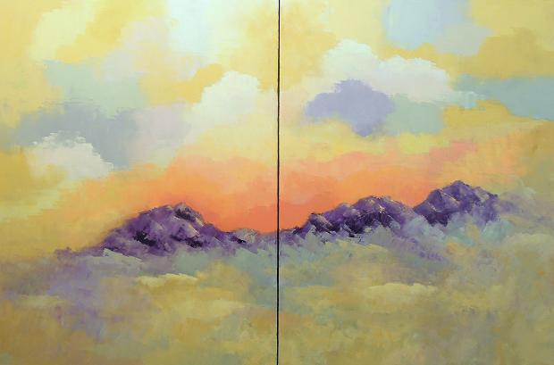 Landscape #577<br>40x60 (diptych)