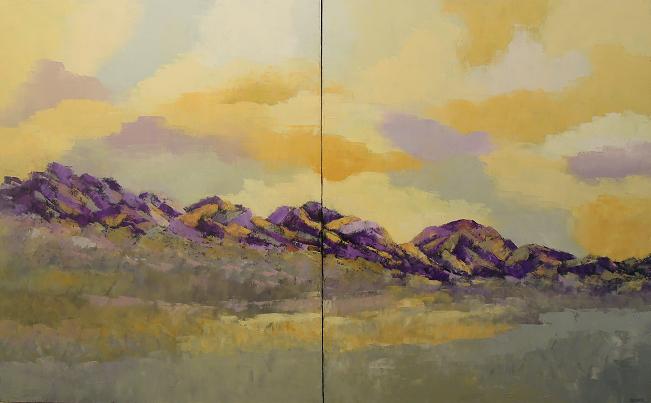 Landscape #581<br>30x48 (diptych)