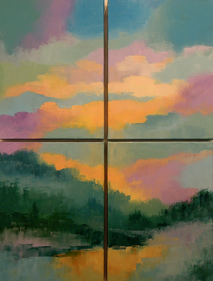 Landscape #582<br>24x32 (4 panels)
