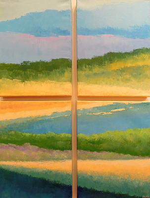Landscape #635<br>24x32 (4 panels)