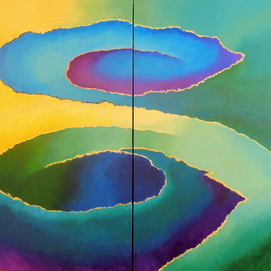 Seasons Spring #621<br>60x60 (diptych)