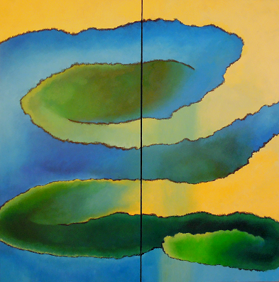 Seasons Summer #622<br>60x60 (diptych)