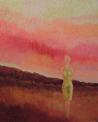 Solitary Figure #660     16x20