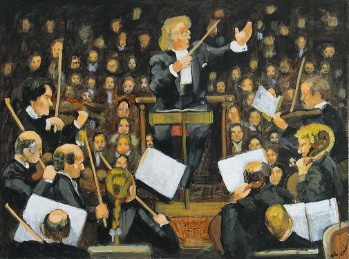 Conductor Levine<br>30x40