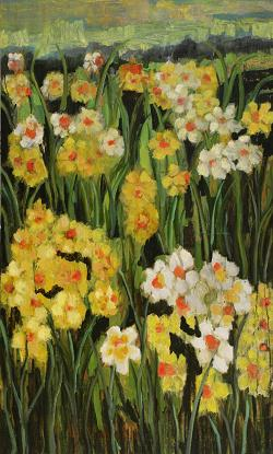Daffodils in the Desert<br>36x60