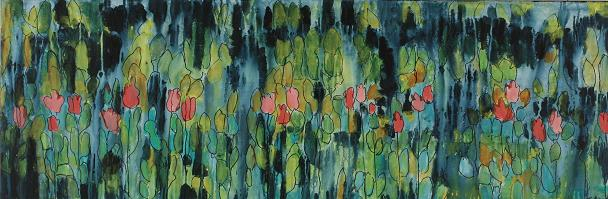 Flowers Through a Window<br>16x47