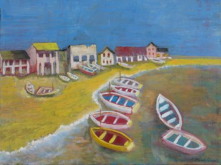 Italian Fishing Village<br>30x40