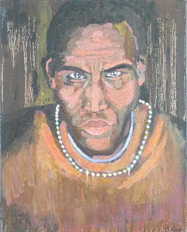 Masai Man<br>24x30