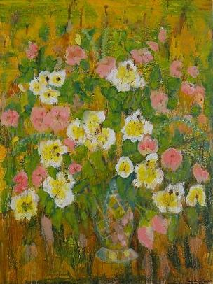 Pink Flowers<br>30x40