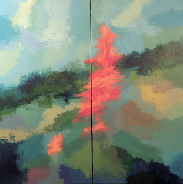 Landscape #712<br>60x60 (diptych)