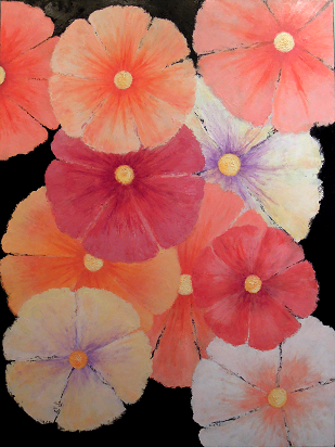 Blooms #663<br>30x40