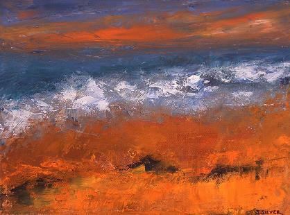 Beach Sunset<br>9x12