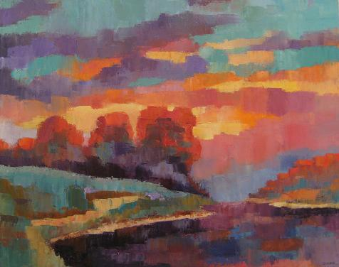 Evening Sunset<br>24x30