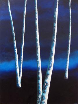 Night Trees #18<br>30x40