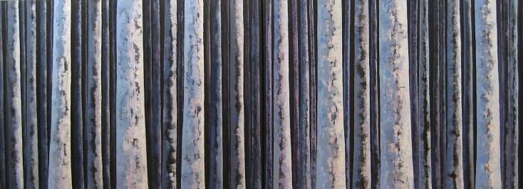 Night Trees #2<br>30x80 (diptych)