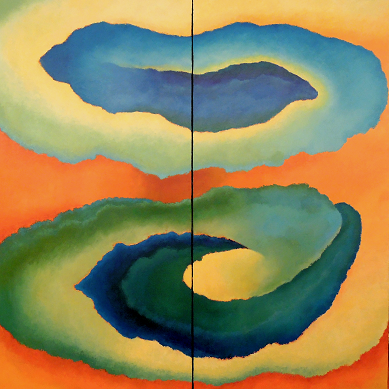 Seasons Autumn #644<br>60x60 (diptych)