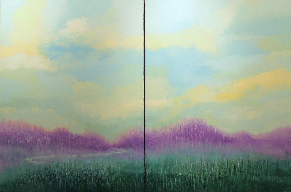 Landscape #731<br>40 X 60 (diptych)