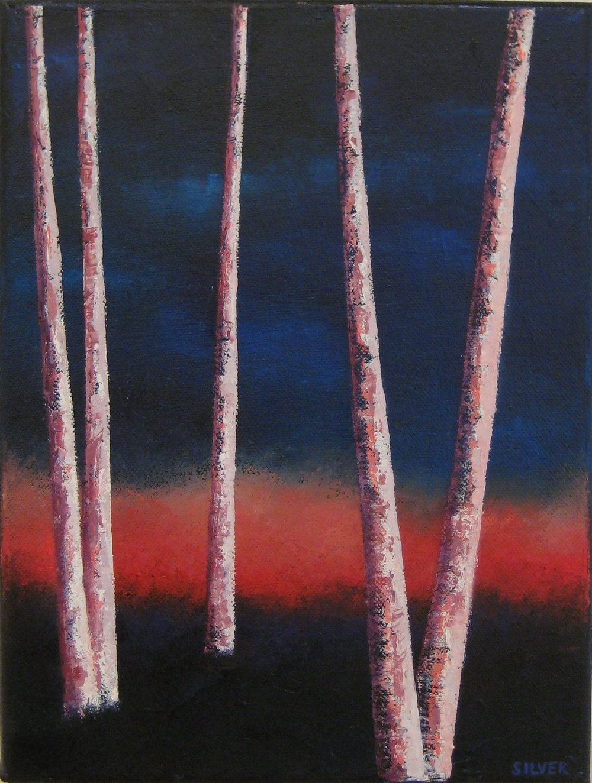 Night Trees #19<br>9X12