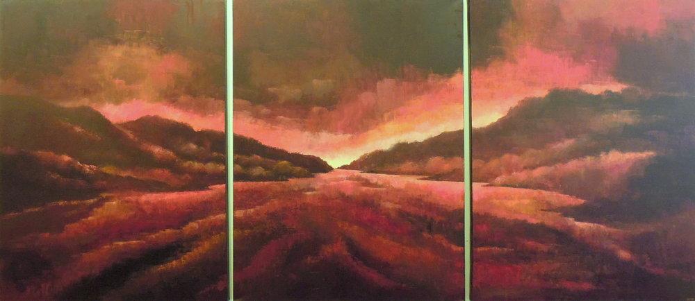 Landscape #498<BR>40 X 90 (triptych)