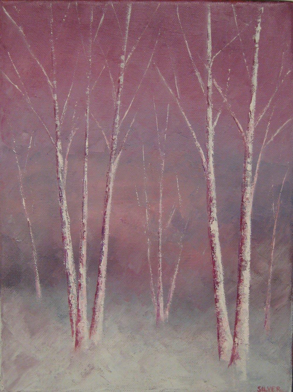 Snow Trees #398<br>9 X 12