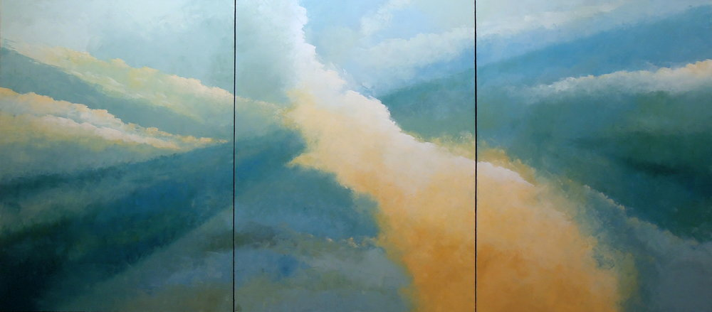 Landscape #586<br>40 X 90 (triptych)