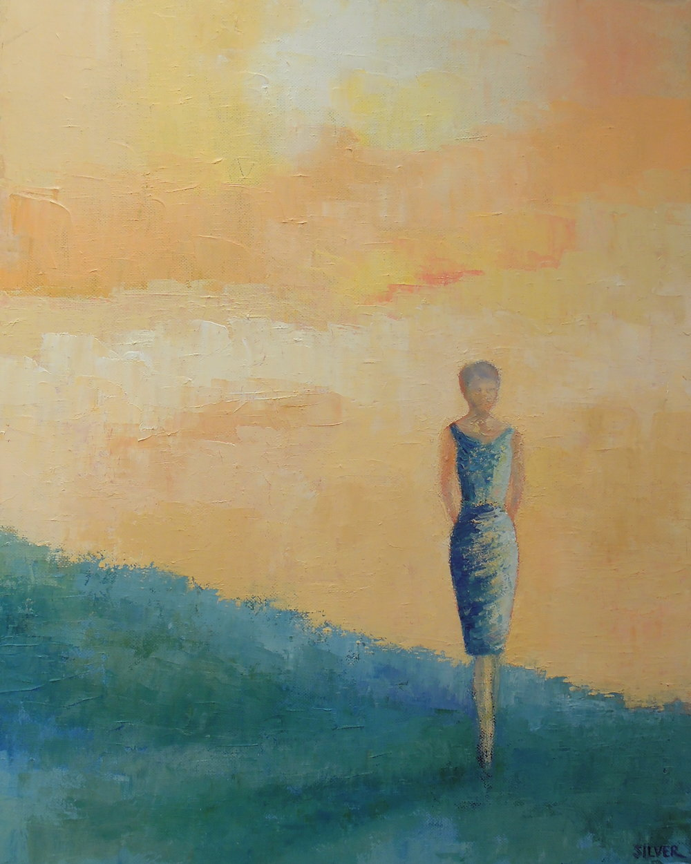 Solitary Figure #5     16 X 20