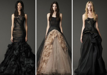 Is Black The New White Vera Wangs Black Bridal Gown Collection
