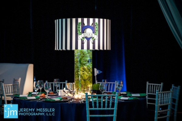 Loving lampshade centerpieces mitzvah favorites bar mitzvah and a great decor company can customize lampshade centerpieces with your event logo making them perfect for mitzvah and sweet 16 celebrations mozeypictures Choice Image