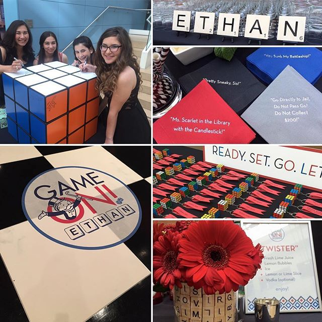 It's Monday...Game On!  Loved branding this event with @flaireventdesign