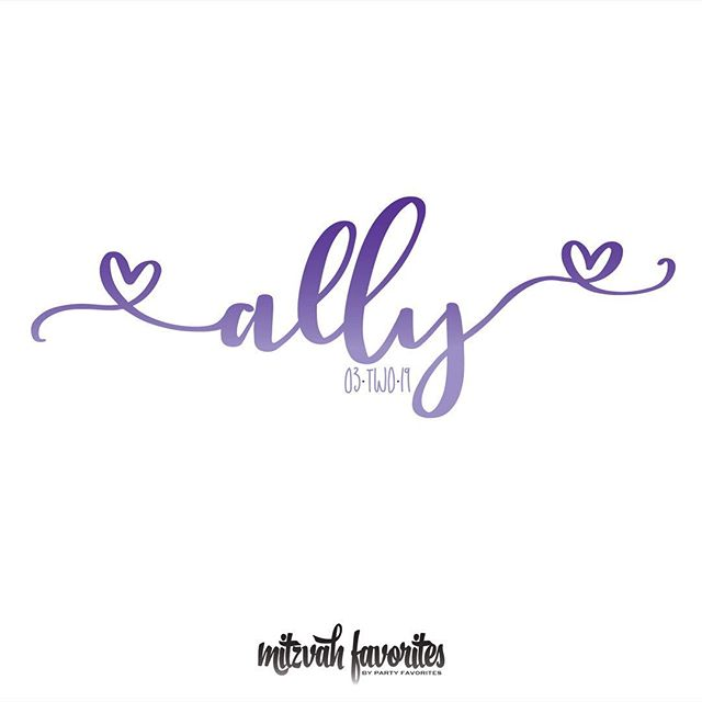 Last night was All About Ally and we branded her #batmitzvah celebration with this sweet logo.