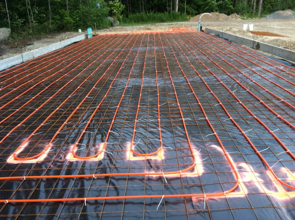 Radiant PEX in the slab.