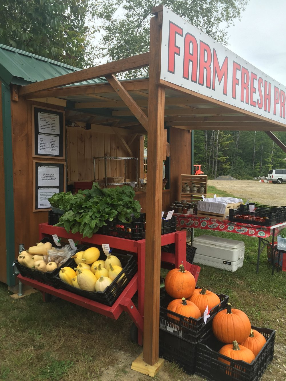 Angel Wing Farm Stand, 282 Centre St., Sullivan, NH
