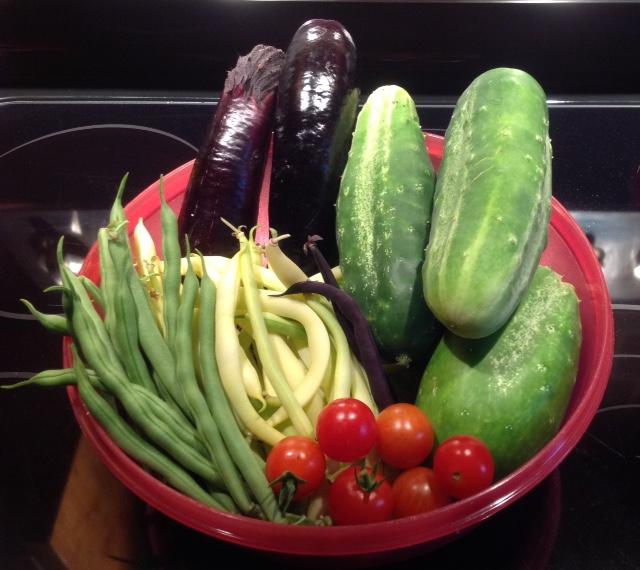 Kim's gorgeous harvest.