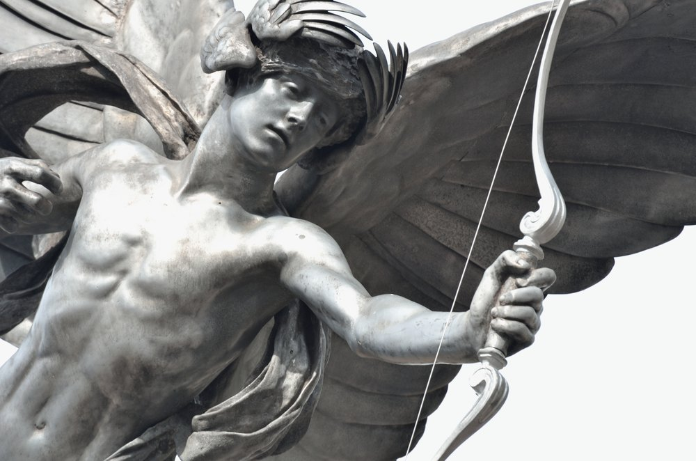 Detail of Eros Statue