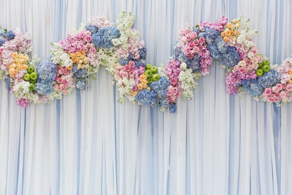 Background of Beautiful flower wedding decoration