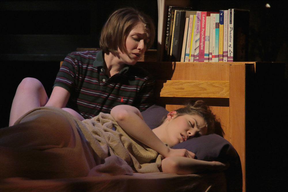 Sarah Chapin and Rachel Felstein in Virginia Stage Company's production of FUN HOME. Photo by Samuel W. Flint.