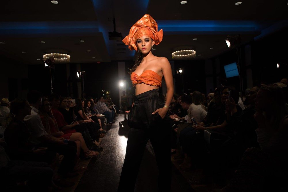 Utah Fashion Week 2017  Model:  Sela Vave   Photo:  Ryan Houston Photography   Designer:  Credo Afro Designs