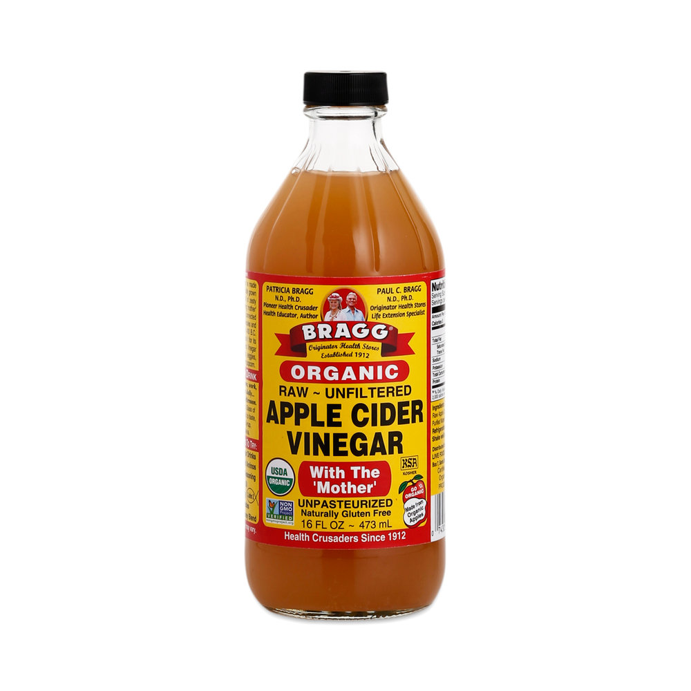 Raw, Unfiltered Apple Cider Vinegar - Apple Cider Vinegar (ACV) is good for about a billion things in people and in dogs.....and cows......and pigs.....you get the picture! We add it to our dogs water at a rate of approximately 1 T per 50 lbs and it changes the taste of their skin and sweat to deter mosquitos, fleas, and ticks! And----as opposed to flea, tick, and heartworm medications that are poisoning your dog-----ACV gives the added benefit of helping with everything from arthritis and joint health to digestion to bladder issues to tooth and nail health, and more! And, because of its anti-fungal and anti-bacterial properties, it's also a great treatment for minor cuts and skin issues! ACV is a must in our book-----but be sure it is RAW, UNFILTERED, and has the