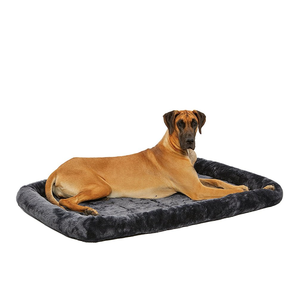 Great Pyrenees Crate Bed - This is simply to make your crate soft and comfortable! It is made to fit exactly in the crate recommended above. (And yes, the dog pictured is a Great Dane and not a Great Pyrenees.....but they're both great, lol!)https://amzn.to/2MkjHPL