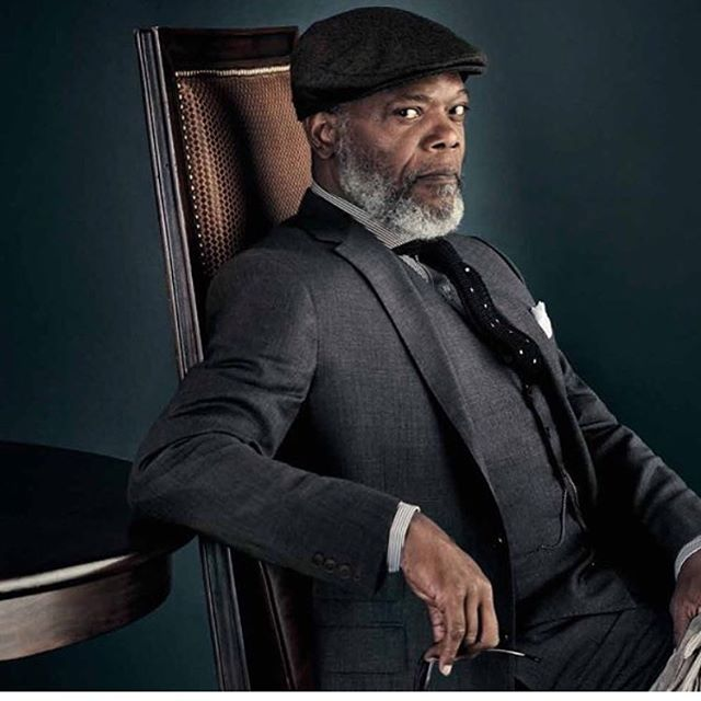 Portfolio Archive shot... cool reminder posted by @lockhatters today... that time I styled the one and only @samuelljackson in @ralphlauren and @lockhatters shot by @tomobrejc #menswear #stylist #work #portfolio #suits