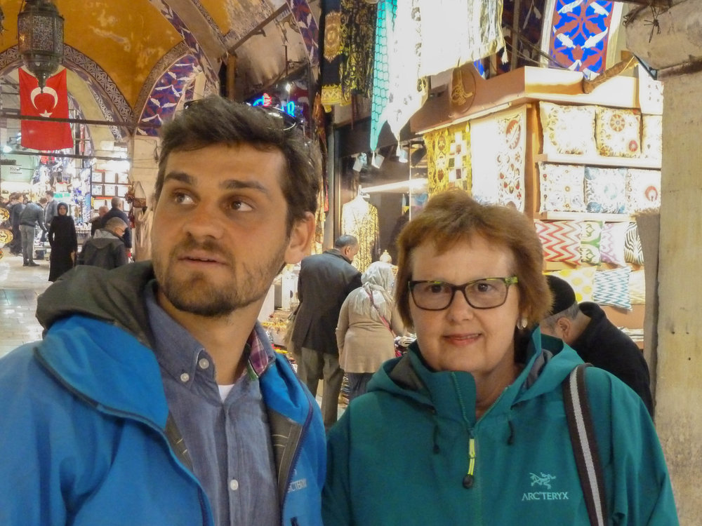 Sibylle and Lukas at the Grand Bazaar in Istanbul.