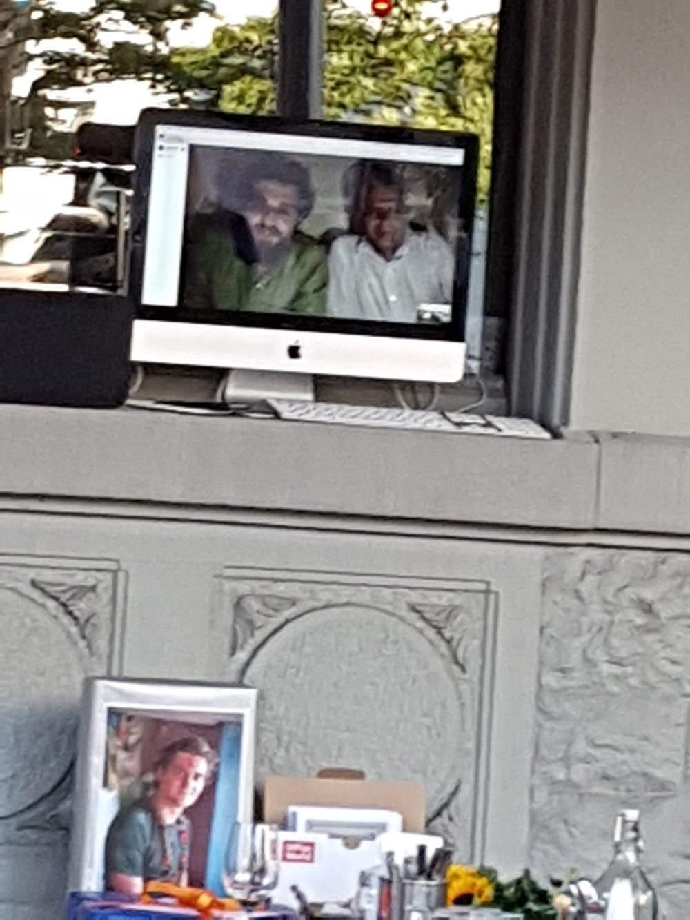 Our live link to Govinda and Lukas in Nepal was one of the highlights of the evening.