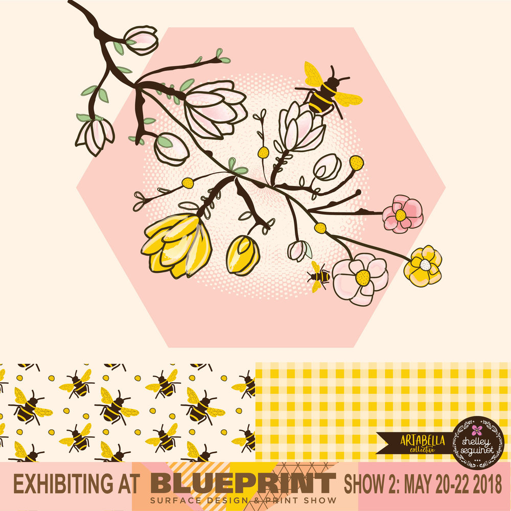 Come visit me!  - I will be displaying a happy collection of illustrations and bold designs. See you in NY!