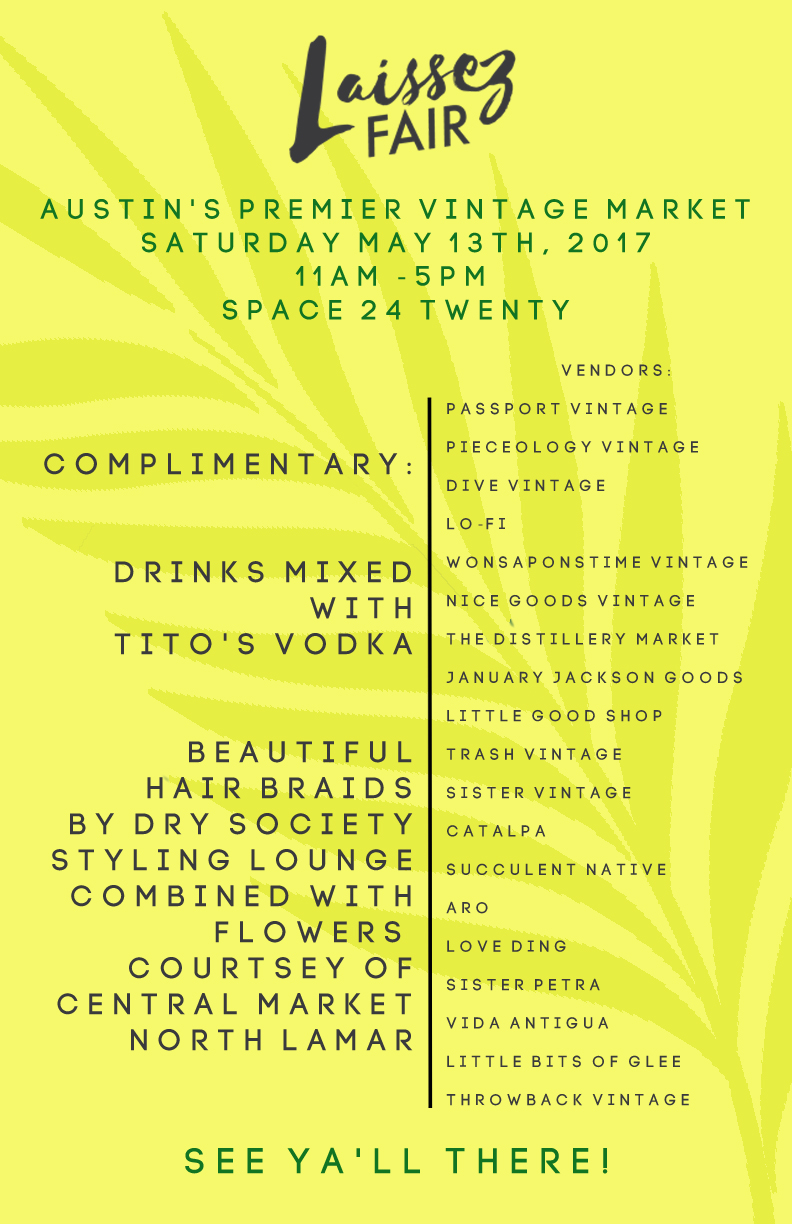 Laissez Fair Spring 2017 Flyer