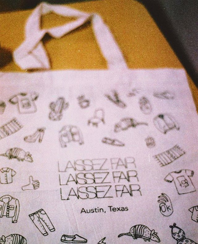 We hope all of our VIPs from the Fall Market are enjoying their official LF Tote! Tote illustrations created by @yocelyn.riojas. Thank you to everyone else who purchased the tote as well 💛 📸: @cristian.sigler . . .  #atx #austin #vintageshopping #atxevent #laissezfair #filmphotos #atxstyle #atxfashion #austintx #365thingsaustin #austintexas #austinphotographer #austintxphotographer #austinbusiness #texasphotographer #atxlife #do512 #austinstyle #austinlife #atxevents #atxlocal #igaustin #shopatx #austinvintage #igtexas #shopaustin #eastaustin #keepaustinweird #texasvintage #shopvintage